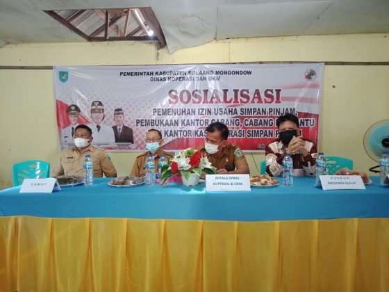 Dinas Koperasi dan UKM Bolmong Gelar Sosialisasi Izin ...